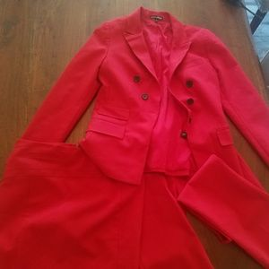 3-Piece Red Suit from Express (Size 4)